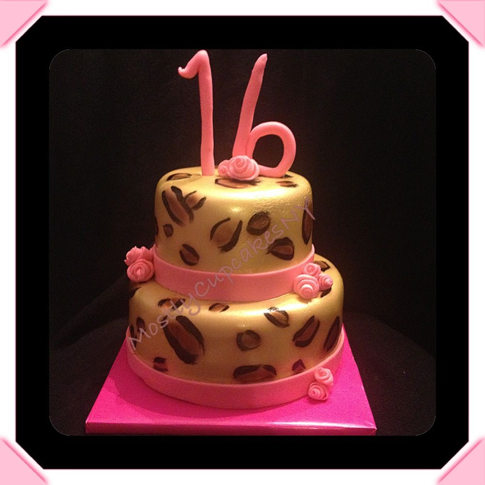 how to make a leopard cake