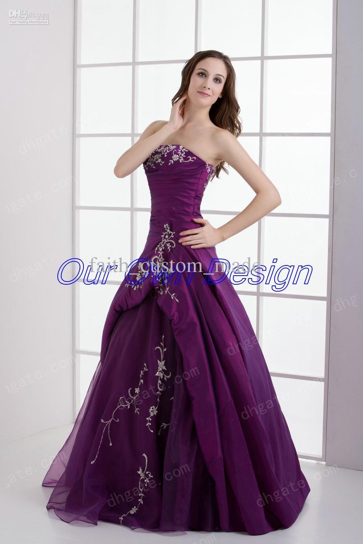 violet-purple-ball-evening-prom-dress-lace.jpg (1000×1500) | All ...