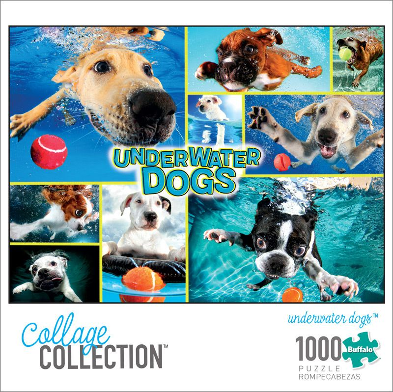 Collage Collection Underwater Dogs 1000 Piece Jigsaw