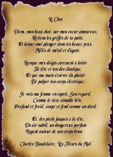 Poème De Charles Baudelaire 1821 1867