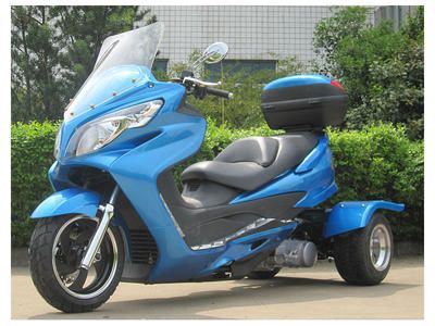 Cyclone 150CC Gas 3 Wheel Trike Moped Scooter Ice Bear