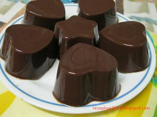Resep Puding Coklat Sederhana Puding Coklat Makanan Puding