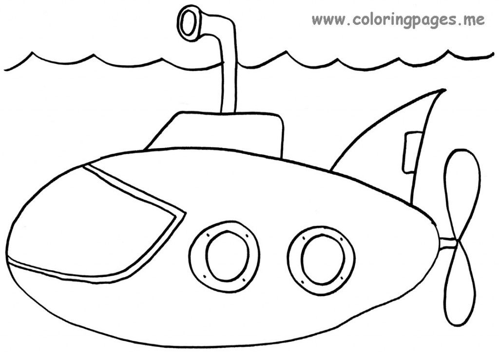 Submarine Coloring Page Coloring Pages Color Worksheets Felt