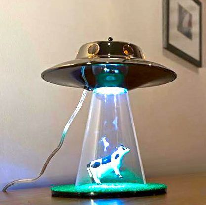 Yes It Exists Alien Abduction Cow Lamp Cool Lamps Wall Lamp