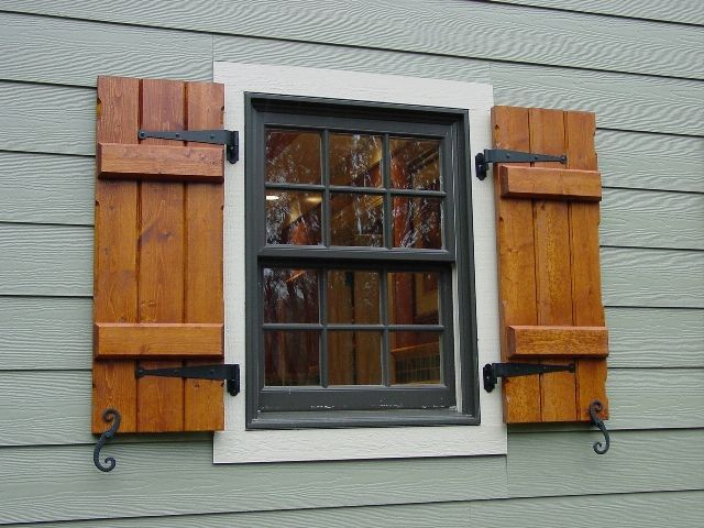 1000 Ideas About Exterior Shutters With Hinges On Pinterest Wooden Window Shutters Wood Shutters Exterior Window Shutters Diy