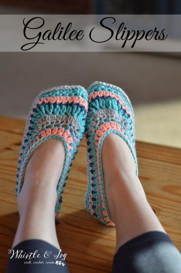 Galilee Crochet Slippers Crocheted Slippers Cozy And Crochet
