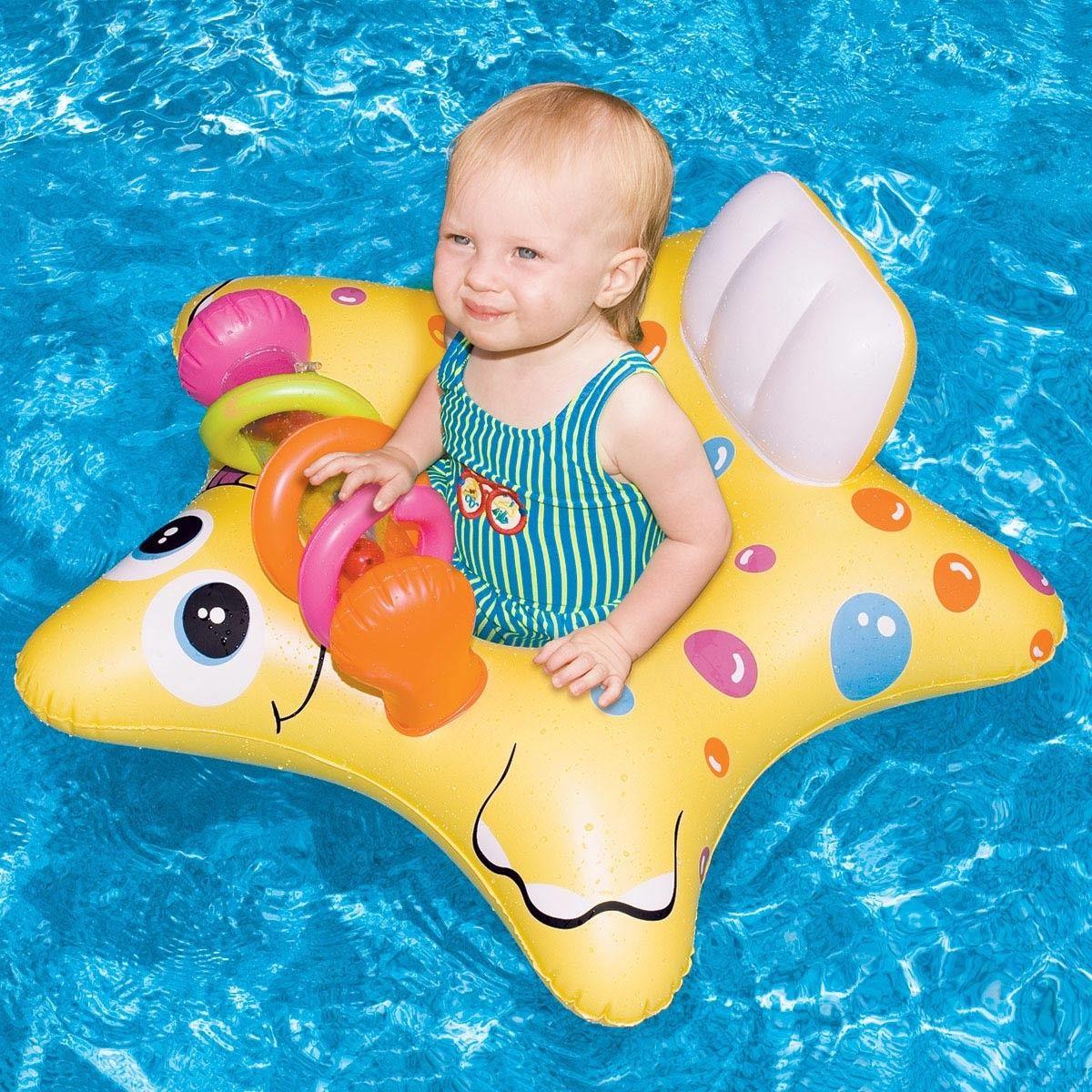 5 Swimline Starfish Inflatable Baby Float Beach