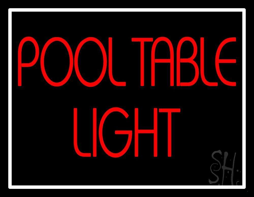 Pool Table Neon Sign - Neon pool table
