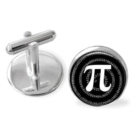 Pi Sign Cufflinks Mathematics Cuff Links Pi Symbol Gift For