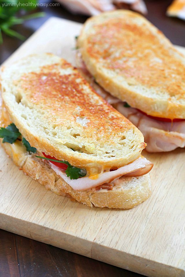 Photo of Southwestern Crispy Grilled Turkey and Cheese Sandwiches with Chipotle Mayo