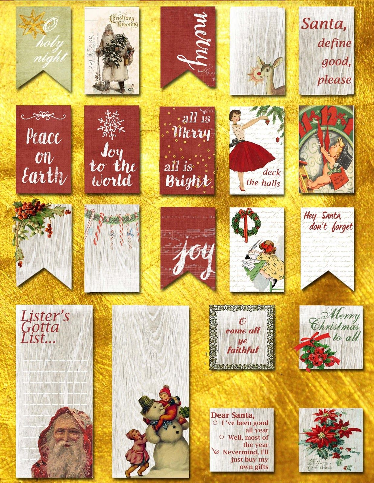i love mini albums: Freebie December Happy Planner Stickers to Celebrate Sybil B