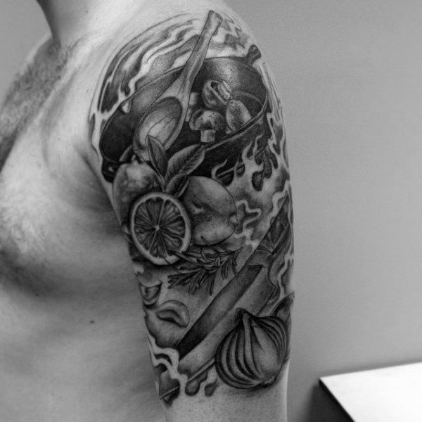 60 Culinary Tattoos For Men Cooking Ink Ideas Culinary Tattoos
