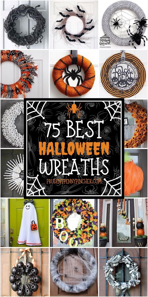 75 Best DIY Halloween Wreaths  – Halloween – #DIY #Halloween #Wreaths