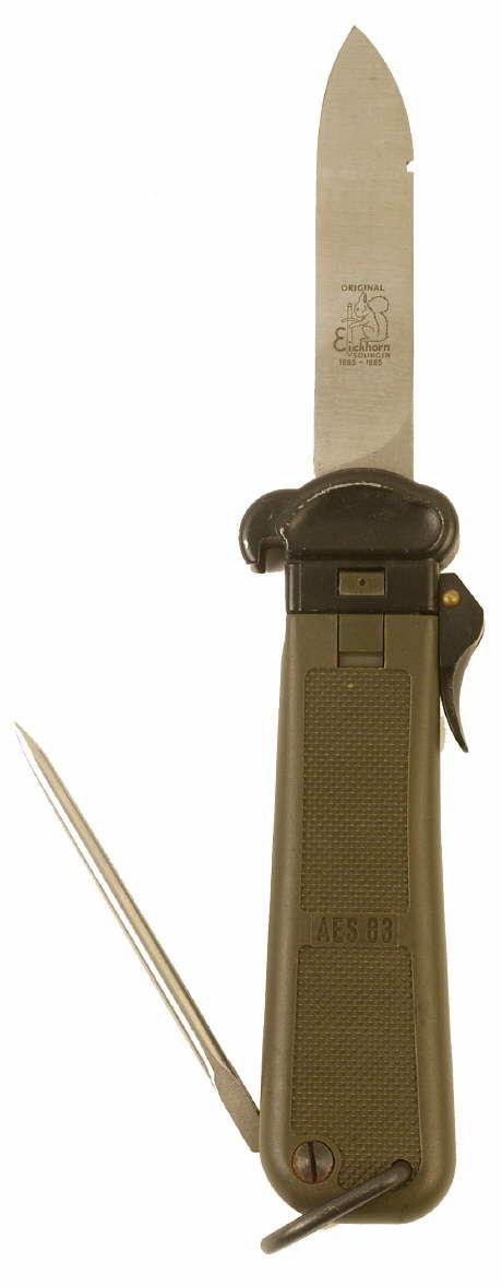 WEST GERMAN BUND PARATROOPER GRAVITY KNIFE - EICKHORN | Blades