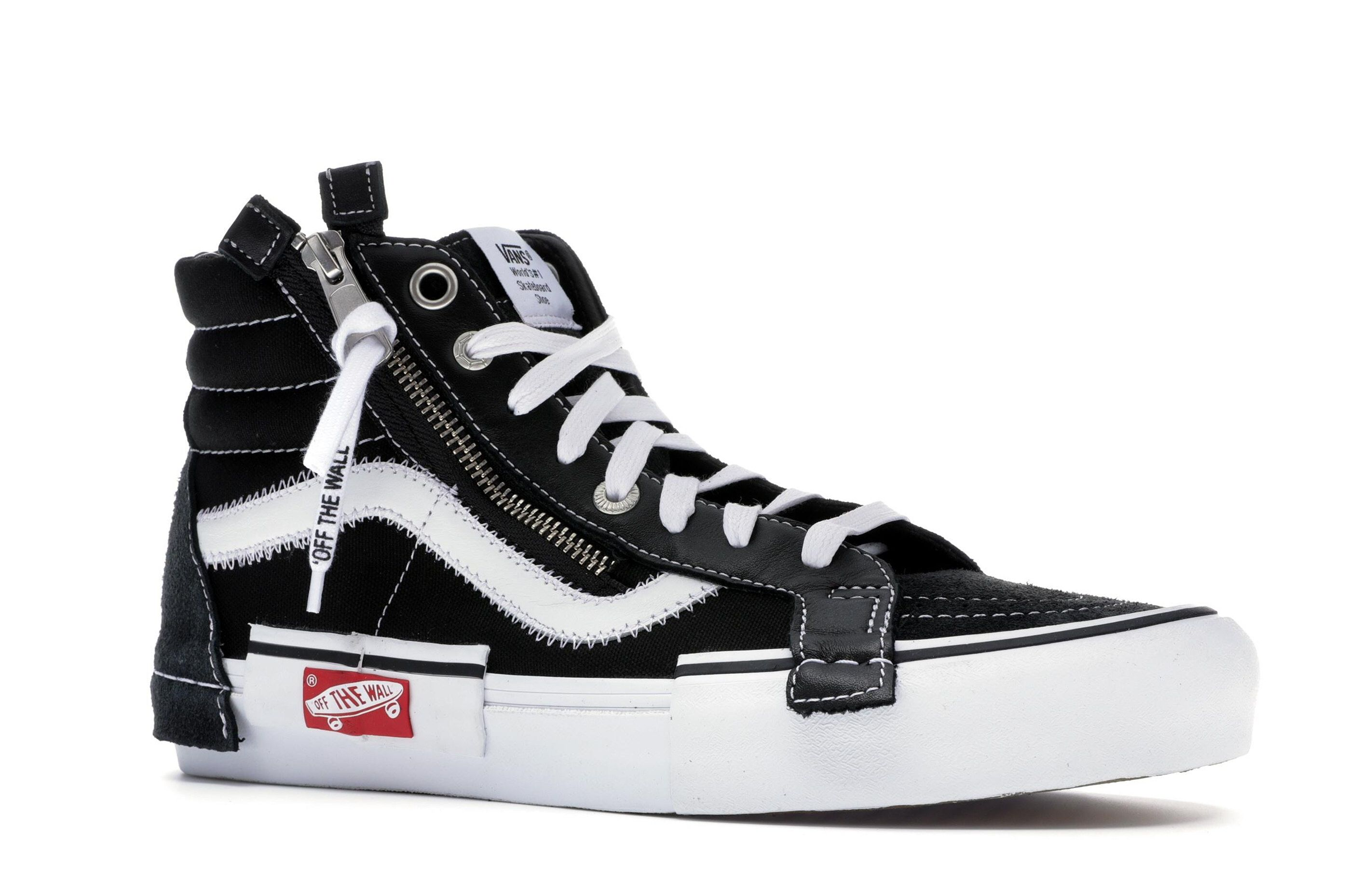 Check out the Vans Sk8-Hi Deconstructed Black available on StockX ... 53abb8c1d8f34