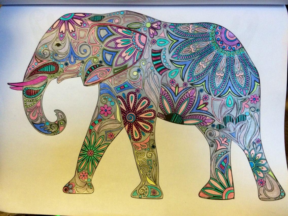 Magicaljungle Johannabasford Elephant Coloring Page Johanna Basford Coloring Book Magical Jungle Johanna Basford