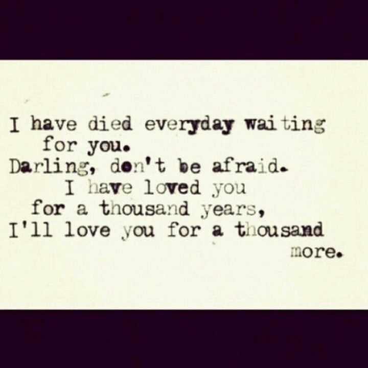 A Thousand Years..... My Baby Sister Is