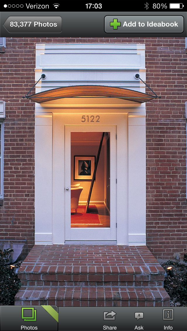 Unique Front Entry Door Awnings