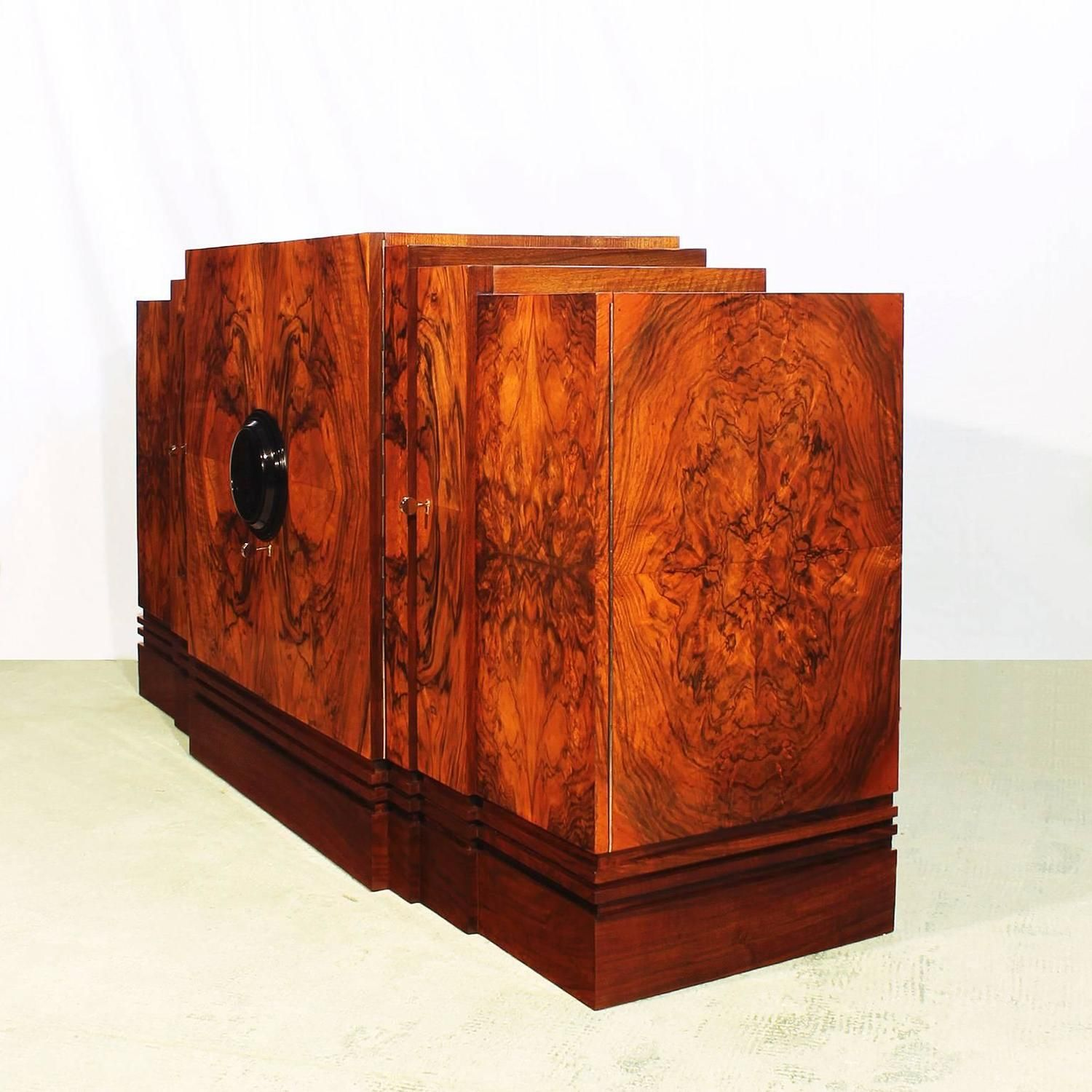 Art Deco Sideboard in the Style of Maison Mercier | From a unique collection of antique and modern sideboards at https://www.1stdibs.com/furniture/storage-case-pieces/sideboards/