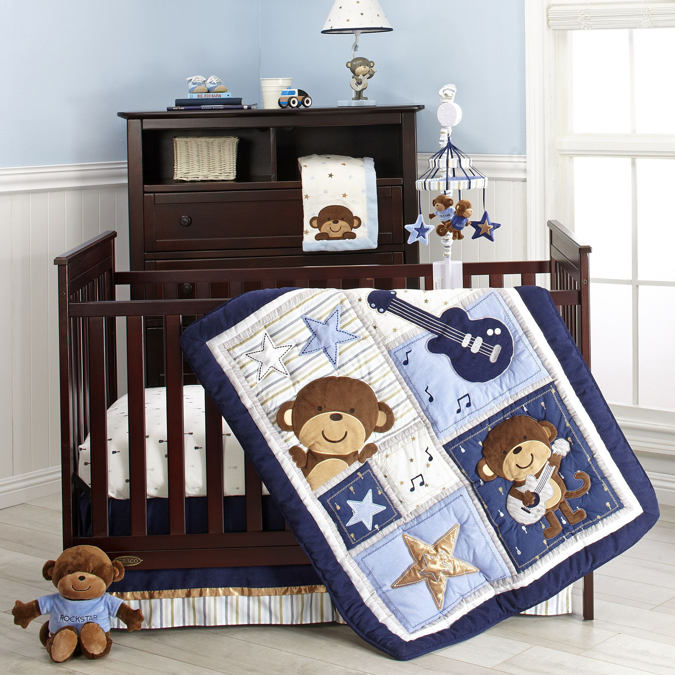 Monkey Crib Bedding Set Mary S Baby Shower Pinterest Crib