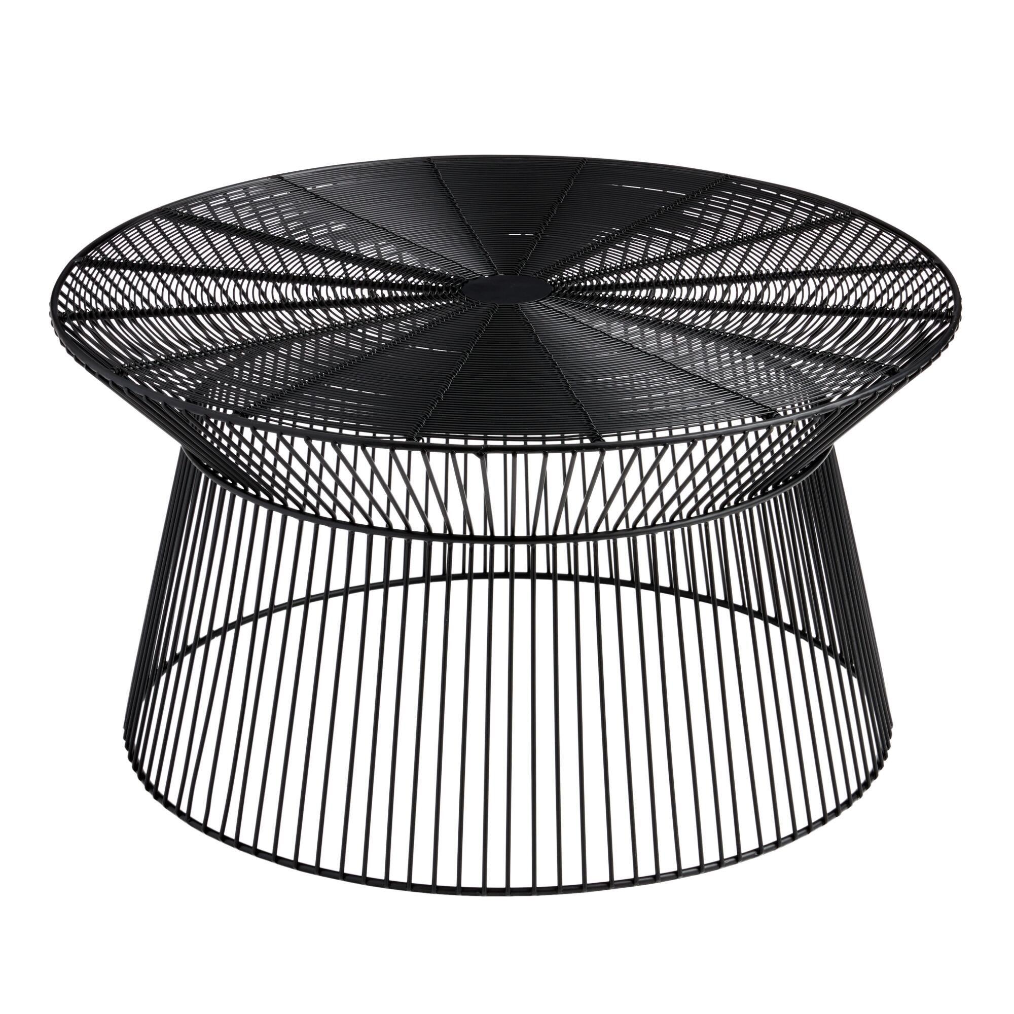 Round Black Metal Zeke Outdoor Coffee Table Outdoor Coffee Tables Metal Coffee Table Coffee Table [ 2000 x 2000 Pixel ]