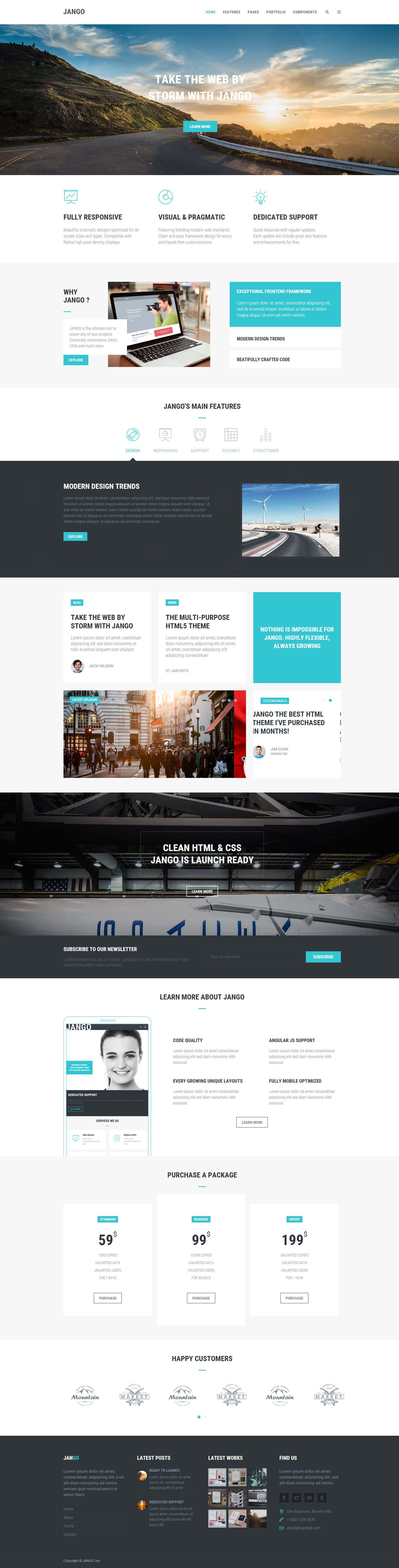 Jango Highly Flexible Component Based Html5 Template By Themehats