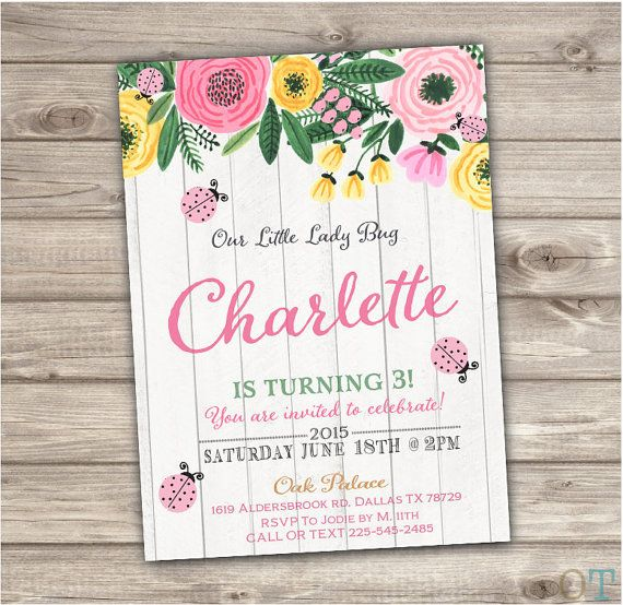 Pink lady bug birthday printable invitations vintage wood flowers pink lady bug birthday printable invitations vintage wood flowers summer rustic simple theme party girl first filmwisefo Gallery