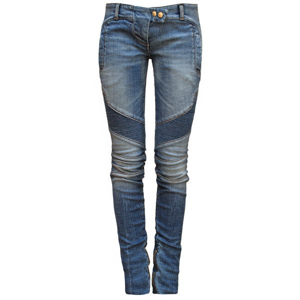 BALMAIN Denim Biker Jeans (€650) ❤ liked on Polyvore featuring jeans, pants, bottoms, pantalones, calças, destroyed skinny jeans, ripped skinny jeans, ripped denim jeans, distressed jeans and super skinny jeans