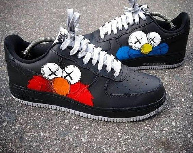 Nike Air Force Ones anime Flavor Etsy Custom shoes diy