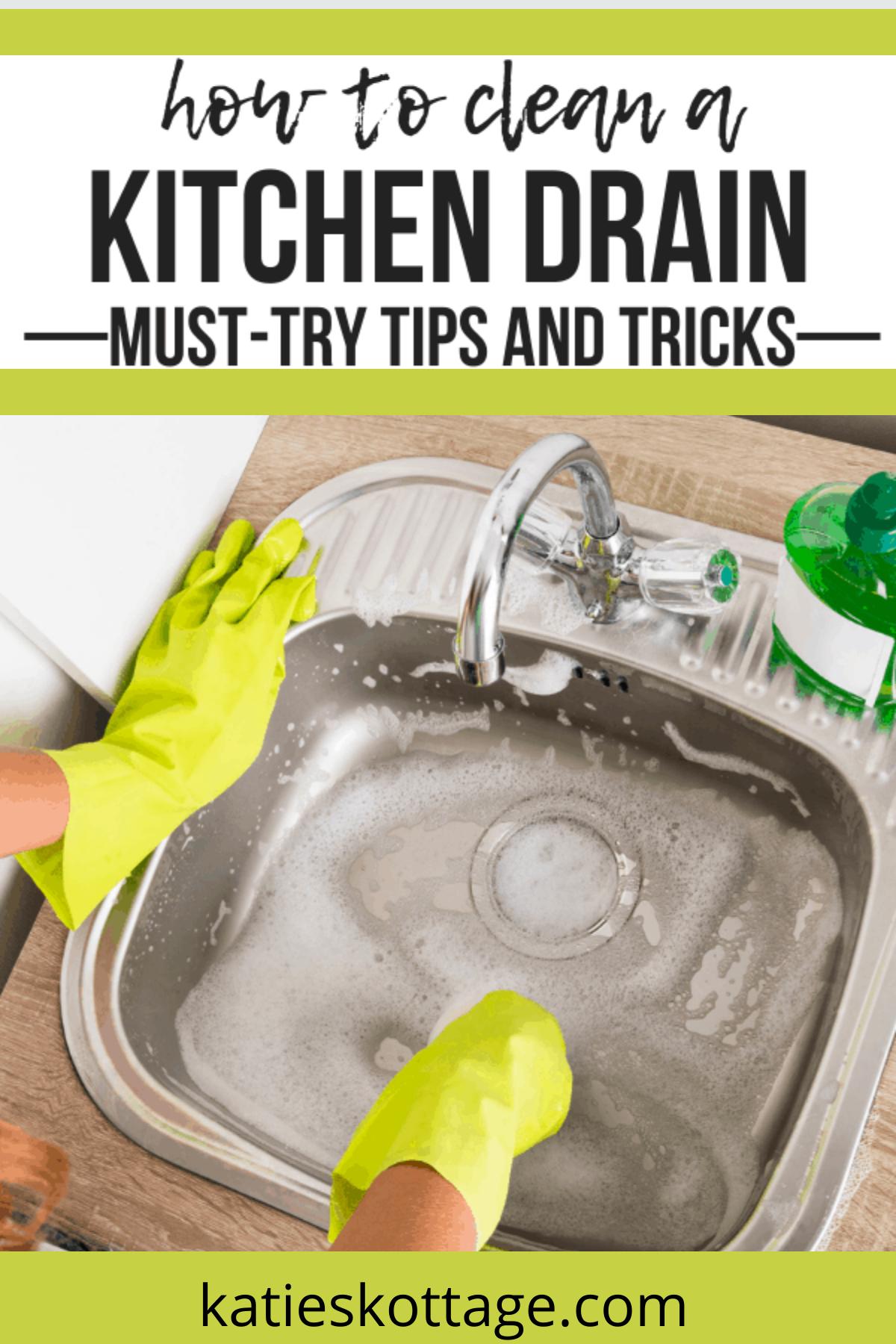 How To Clean A Kitchen Sink Drain - KatiesKottage  Sink drain