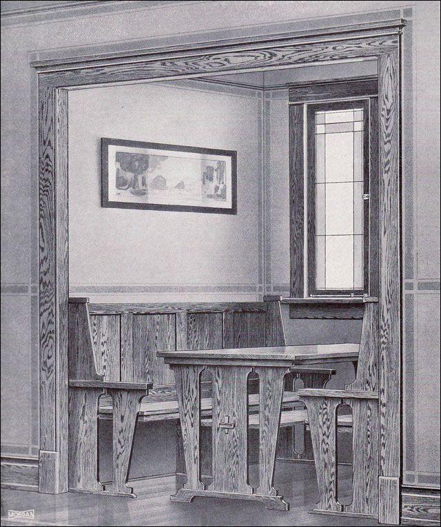 Kitchen Nook Craftsman Style MILLWORK FROM MORGAN - Craftsman bungalow kitchen breakfast nooks
