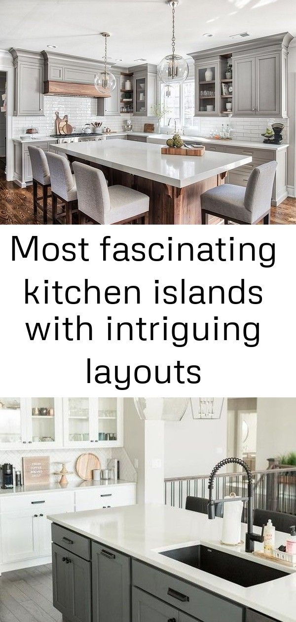 Most fascinating kitchen islands with intriguing layouts #swisscoffeebenjaminmoore