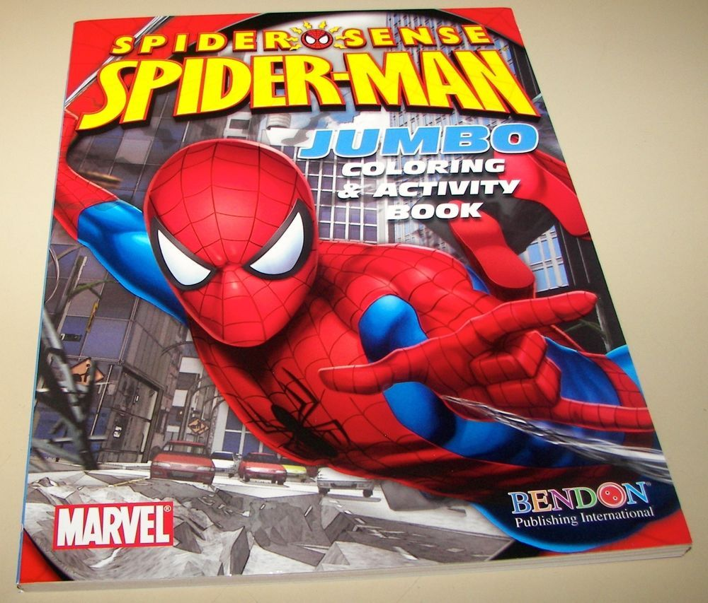 Spider Sense Spider Man Jumbo Coloring Activity Book 2009 Nm 9 2 White Pgs Spiderman Comic Spiderman Color Activities