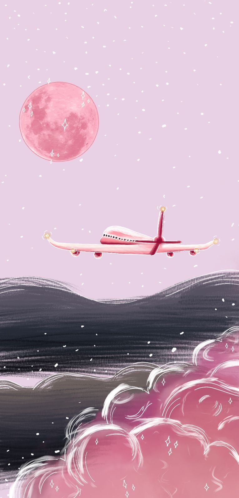 Dreamy Voyage In 2020 Aesthetic Iphone Wallpaper Pink Wallpaper Pretty Wallpapers