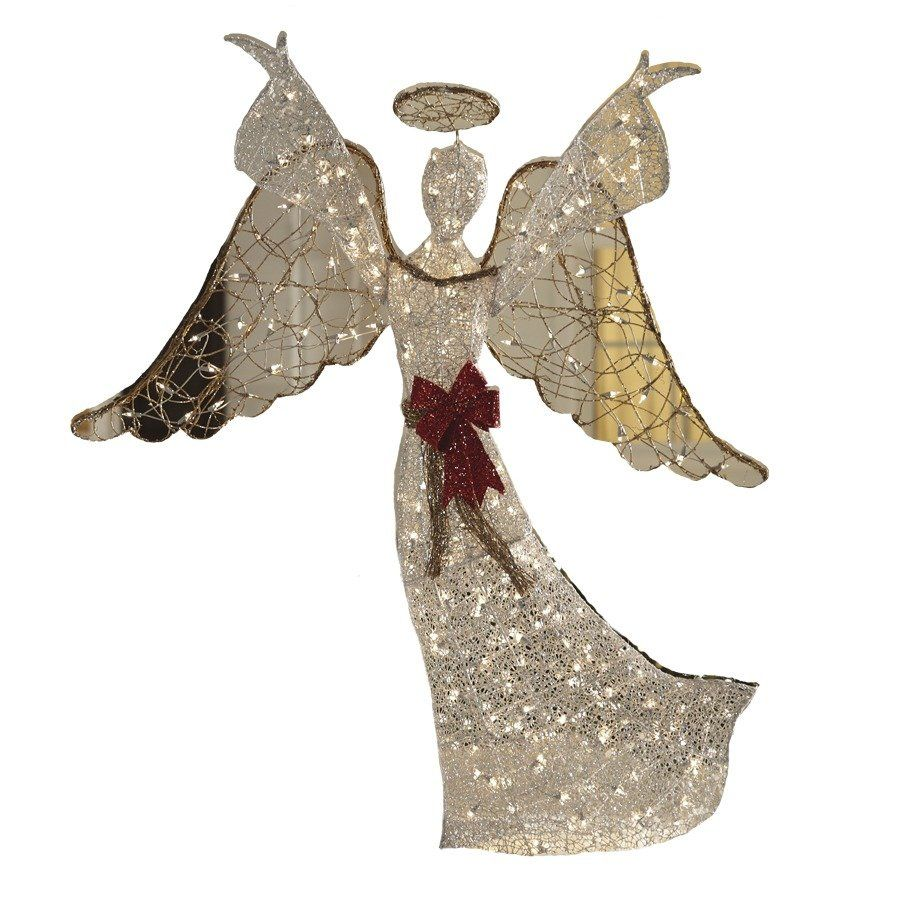 Holiday Living 59 In Lighted Mesh Angel Outdoor Christmas Decoration Lowe S Canada