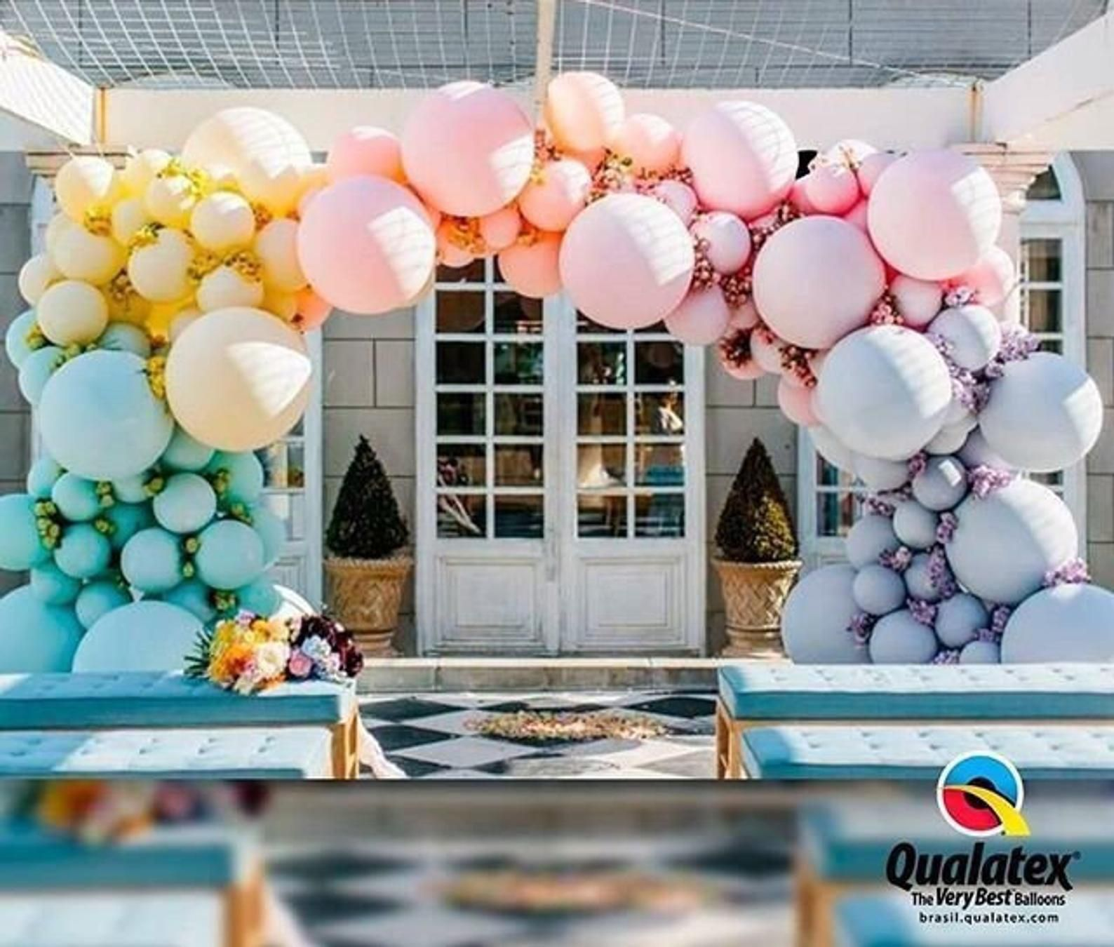 Matte Pastel Latex Balloon Custom Garland 8', 12', 16', 24' Chalk or Soft Pastel Look Geronimo Banner