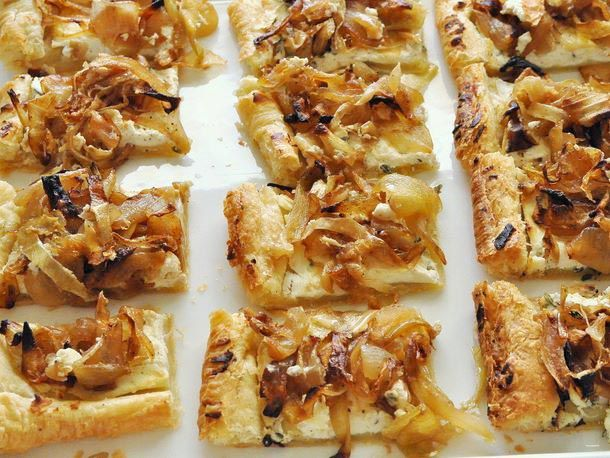 Caramelized Onion and Goat Cheese Tartlets Recipe