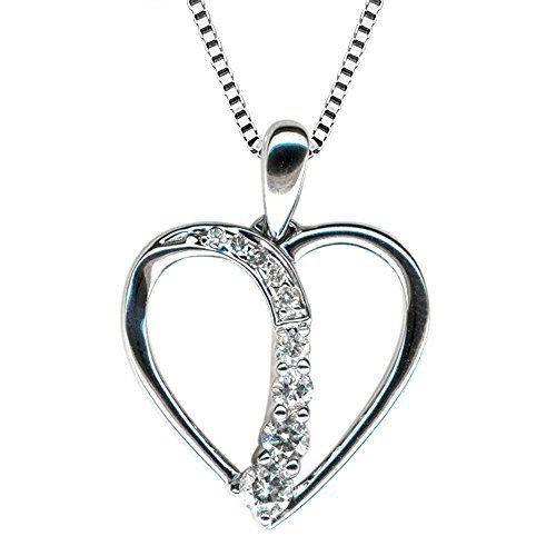 10k white gold journey heart diamond pendant necklace 1 https 10k white gold journey heart diamond pendant necklace 1 https aloadofball Choice Image