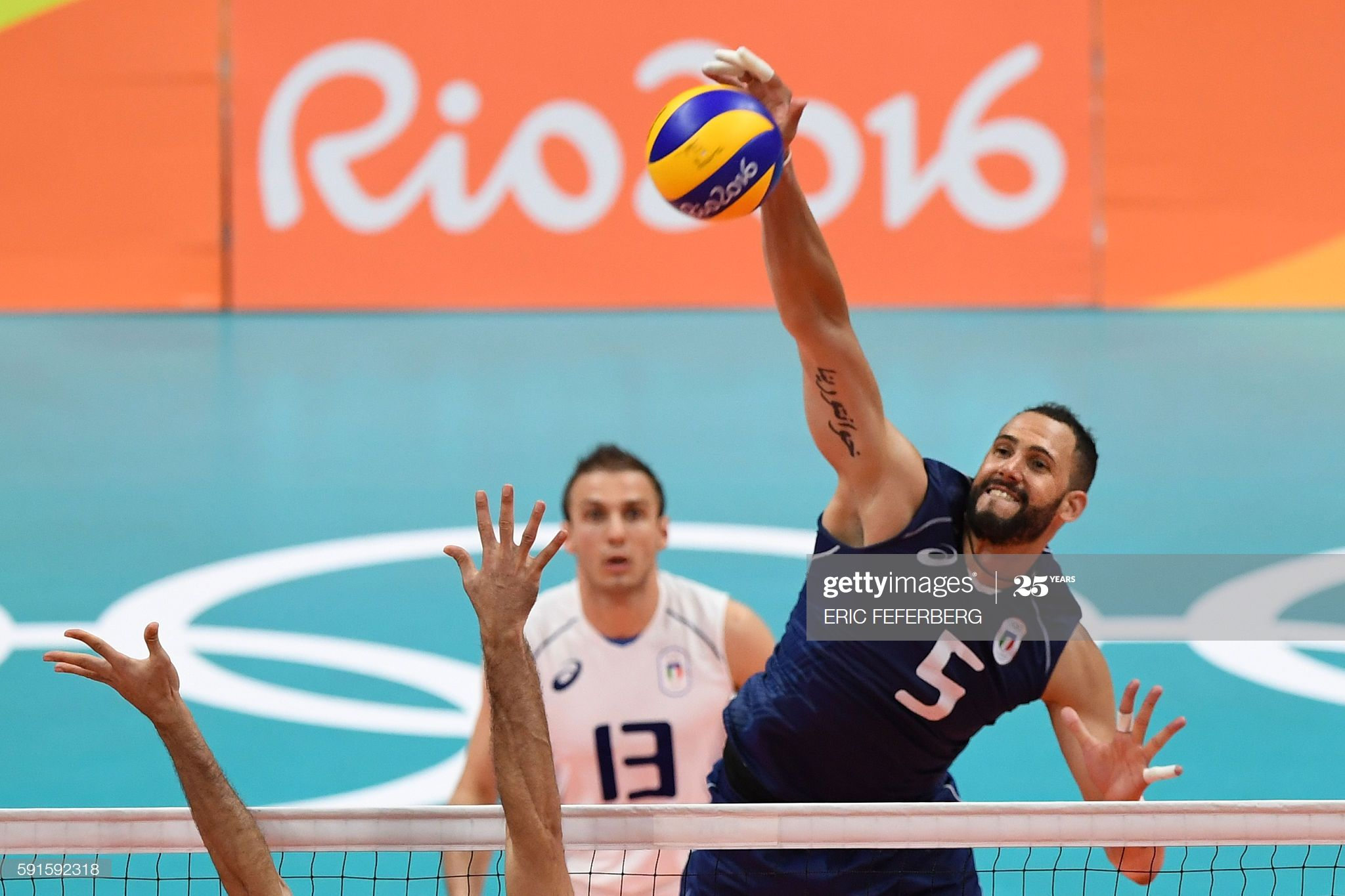 Italy S Osmany Juantorena Spikes The Ball During The Men S In 2020 Olympic Games Olympics 2016 Rio Olympics 2016