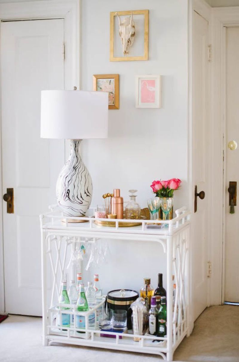 The Worth Bar Cart at the Glitter Guide | The Bar Cart is Back ...