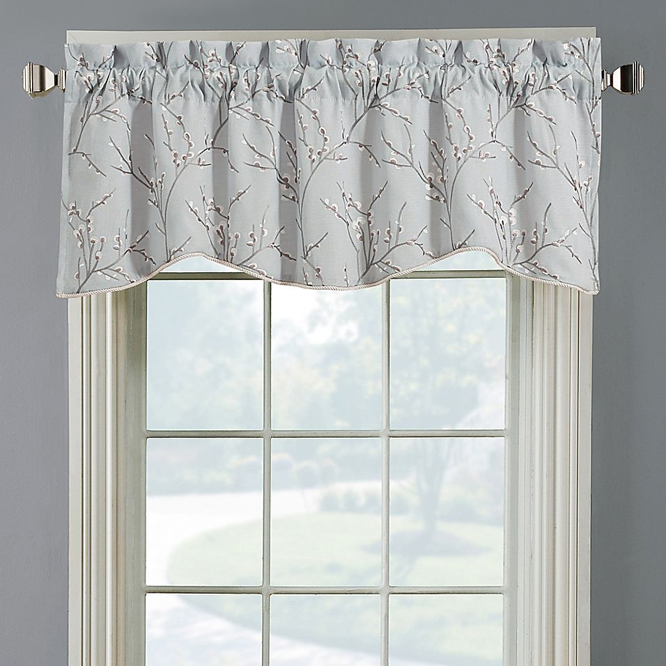 Allendale Lined Embroidered Window Valance Bed Bath Beyond Window Valance Valance Bed Bath And Beyond