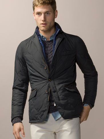 MEN INTERIOR QUILTED Massimo WITH New REMOVABLE JACKET EHIWD92