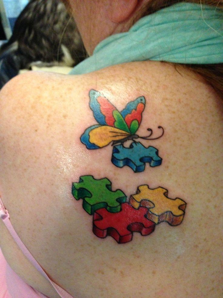 Men Autism Tattoo Son