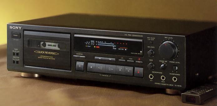 SONY TCRX79 (1992) Stereo Cassette Decks 2 Hifi audio