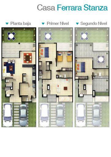 planos de casas nivel medio