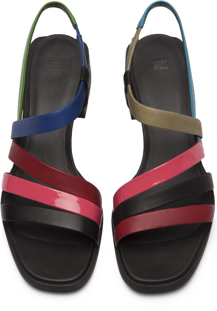 001Shoes Camper Twins Sandals K200343 Women Multicolor 8Xnkw0OP