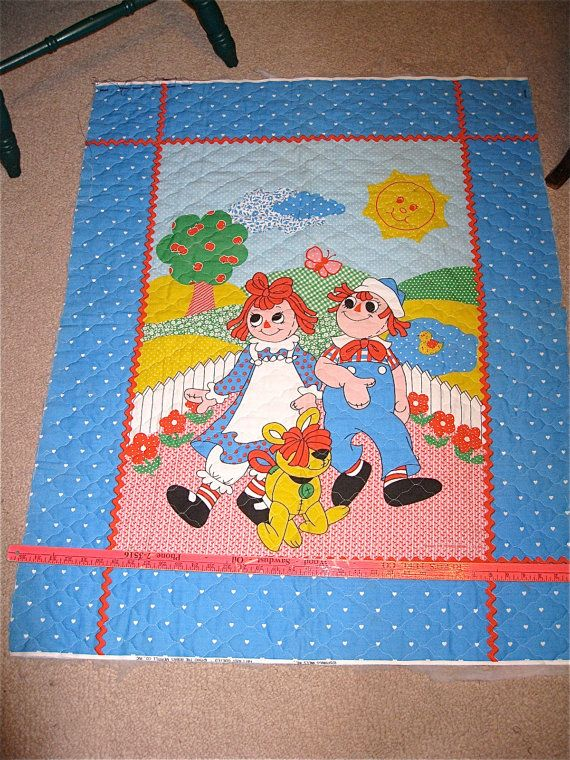 Raggedy Ann And Andy Baby Quilt Panel Raggedy Ann