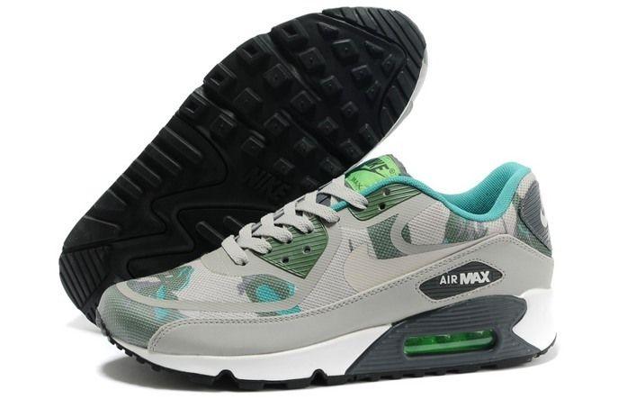 Nike Air Max 90 PREM TAPE Womens New Grey Army Green   Nike