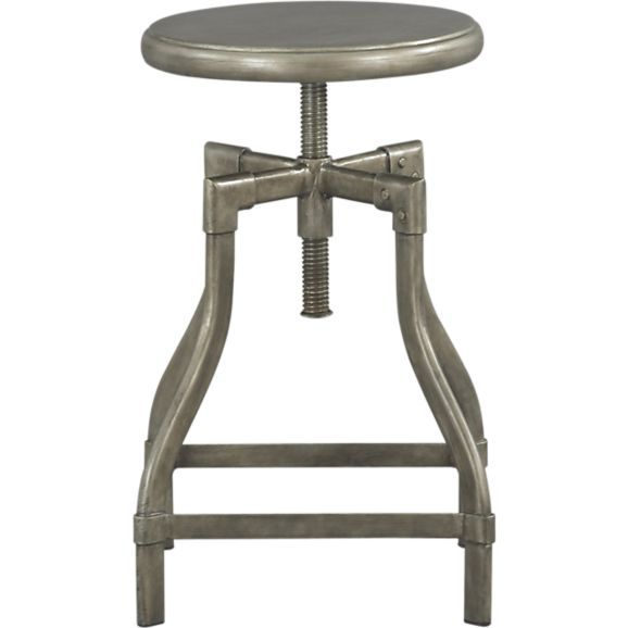 Turner Gunmetal Adjustable Backless Counter Stool | Counter stools ...