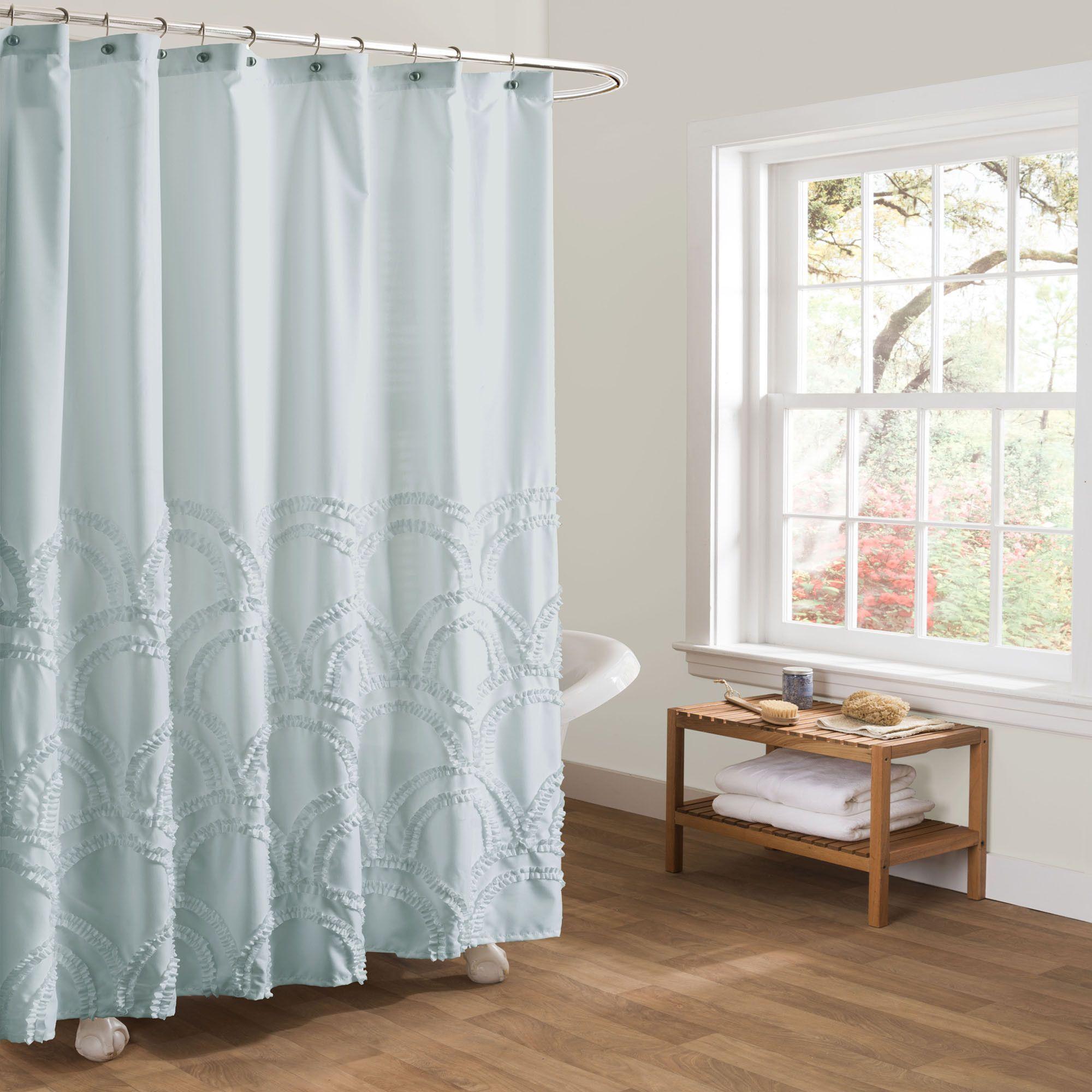 Esme Spa Blue Shower Curtain Spa Shower Curtain Blue Shower